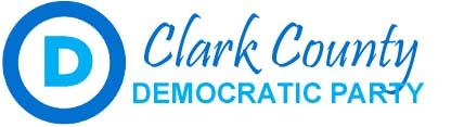 "Stylized ""D"" with words ""Clark County Democratic Party"""